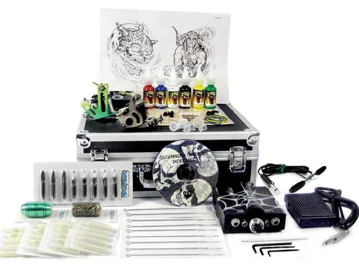 Tattoo starter kit 1 with case starter tattoo kit 1 for Starter tattoo kits