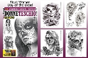 Day of the Dead Skull Women Tattoo 66- Page Flash Book