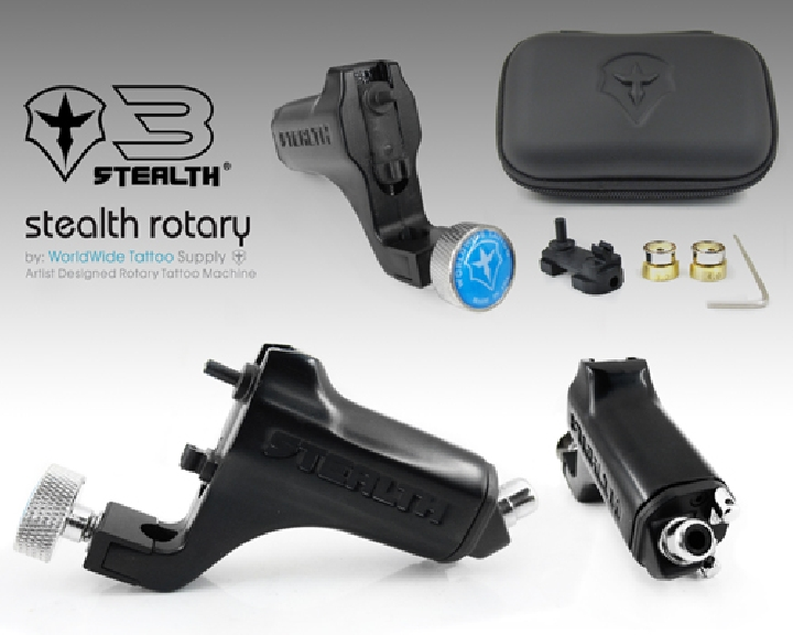 Stealth 3 0 rotary tattoo machine box set black for How much does a tattoo gun cost