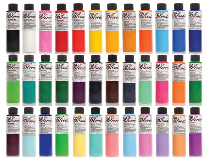 Bloodline By Skin Candy 10 Pack Ink Set 1 Oz Bloodline Ink Sets