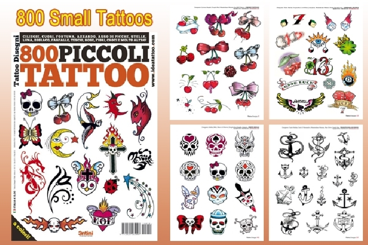 800 Small Tattoos Design 66-Page Flash Book - 800 Small Tattoo ...